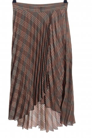 H&M Asymmetry Skirt check pattern casual look