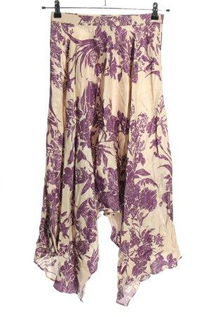 H&M Asymetryczna spódniczka w kolorze białej wełny-fiolet W stylu casual