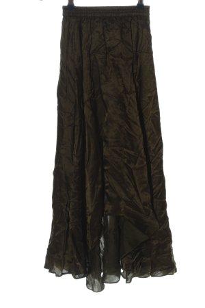 H&M Asymetryczna spódniczka khaki Elegancki