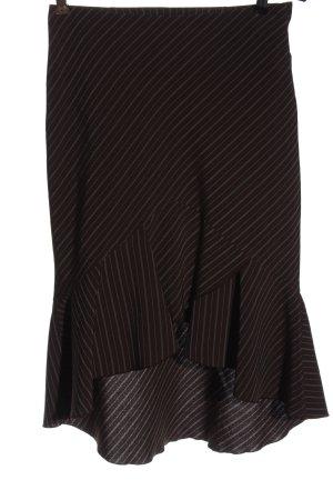 H&M Asymetryczna spódniczka brązowy Wzór w paski W stylu biznesowym