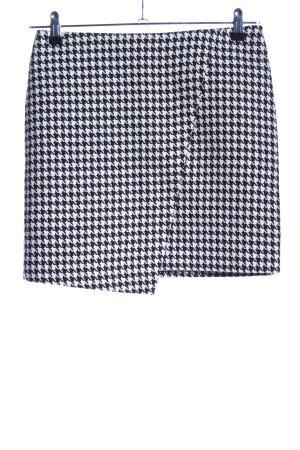 H&M Asymmetrie-Rock schwarz-weiß Allover-Druck Casual-Look