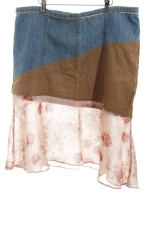 H&M Asymetryczna spódniczka Wzór w kwiaty Ekstrawagancki styl
