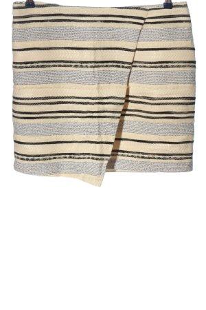 H&M Asymetryczna spódniczka Wzór w paski W stylu casual