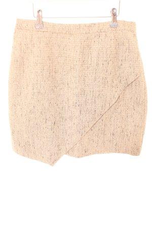 H&M Asymetryczna spódniczka kremowy Melanżowy W stylu casual