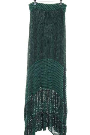 H&M Asymmetrie-Rock grün-schwarz Casual-Look