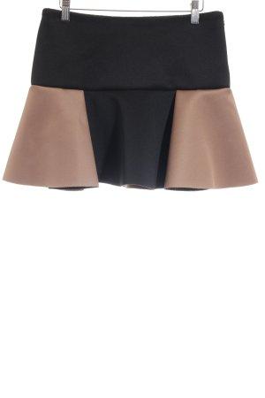 H&M Asymetryczna spódniczka czarny-brązowy W stylu vintage