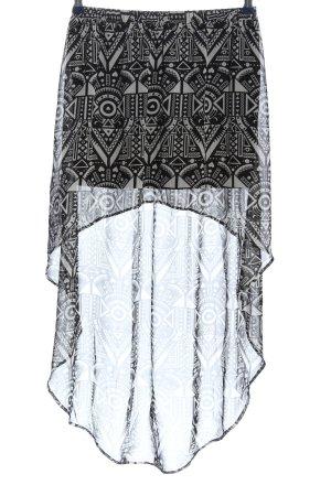 H&M Gonna asimmetrica nero-grigio chiaro stampa integrale stile casual