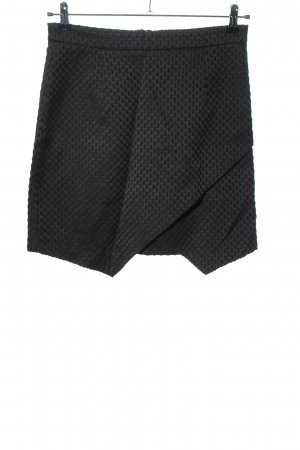 H&M Asymetryczna spódniczka czarny Wzór w kropki W stylu casual