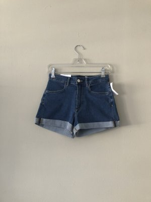H&M DENIM Shorts azul oscuro