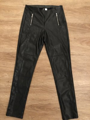 H&M Divided Pantalone in pelle nero