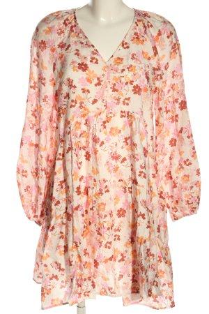 H&M Vestido babydoll estampado repetido sobre toda la superficie look casual