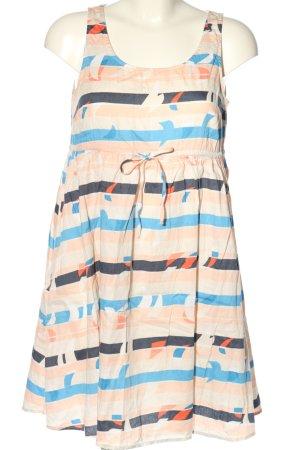 H&M Vestido babydoll nude-azul estampado a rayas look casual