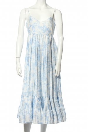 H&M Sukienka typu babydoll biały-niebieski W stylu casual