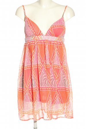 H&M Babydoll-jurk abstract patroon casual uitstraling