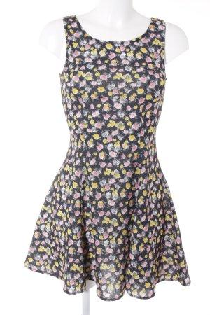 H&M Vestido babydoll estampado floral Elementos metálicos