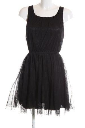 H&M Babydollkleid schwarz Elegant