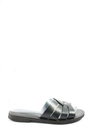 H&M Badeslipper schwarz Casual-Look