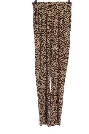 H&M Luźne spodnie brązowy-kremowy Na całej powierzchni W stylu casual