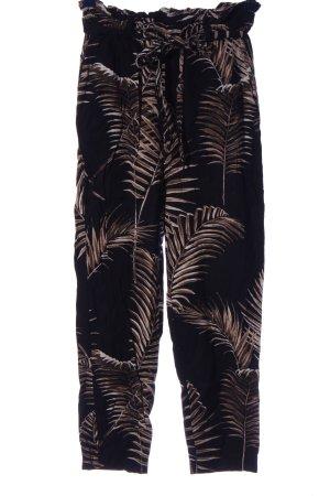 H&M Baggy Pants schwarz-braun Allover-Druck Casual-Look