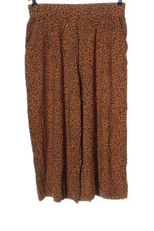 H&M Baggy Pants brown-black allover print casual look
