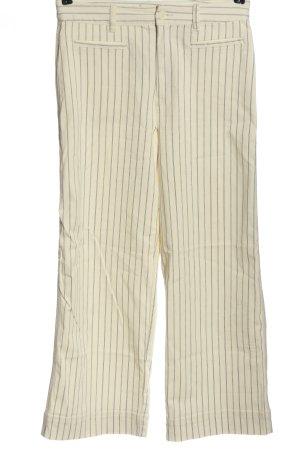 H&M Baggy Pants creme-schwarz Streifenmuster Casual-Look