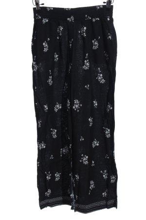 H&M Pantalon «Baggy» noir-blanc imprimé allover style décontracté