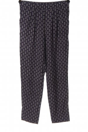H&M Baggy Pants blue-white allover print casual look