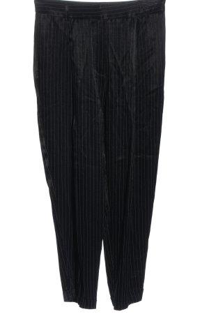 H&M Baggy Pants schwarz-weiß Streifenmuster Elegant