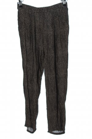 H&M Baggy Pants schwarz-creme abstraktes Muster Casual-Look