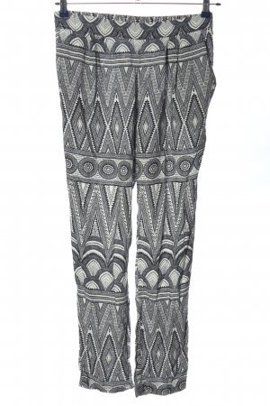 H&M Baggy Pants schwarz-weiß grafisches Muster Casual-Look