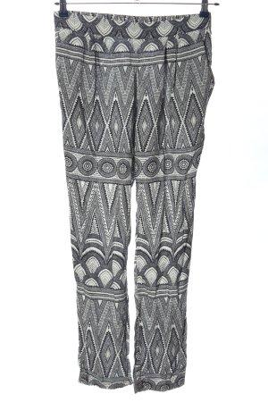 H&M Baggy broek zwart-wit grafisch patroon casual uitstraling