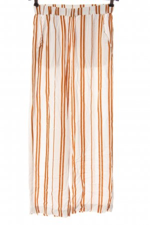 H&M Baggy Pants white-light orange striped pattern casual look