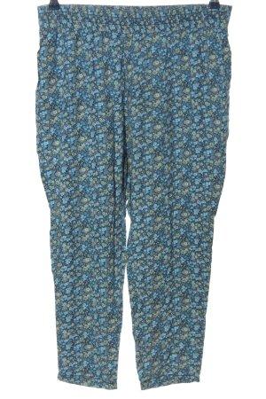 H&M Baggy Pants blau-grün Allover-Druck Casual-Look