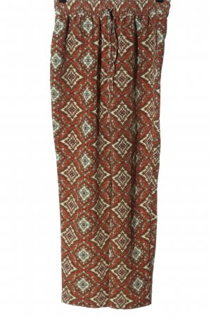 H&M Baggy Pants red-natural white abstract pattern casual look