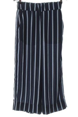 H&M Baggy Pants blau-weiß Streifenmuster Casual-Look