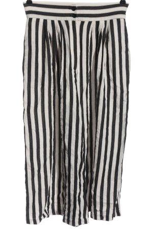 H&M Baggy Pants weiß-schwarz Allover-Druck Casual-Look
