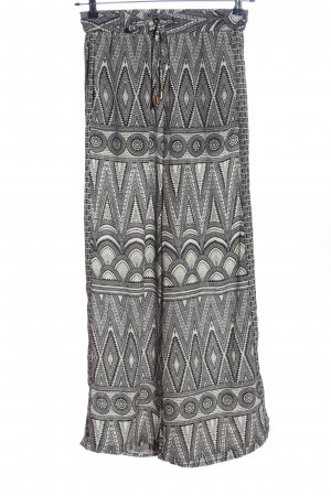 H&M Baggy Pants weiß-schwarz abstraktes Muster Casual-Look