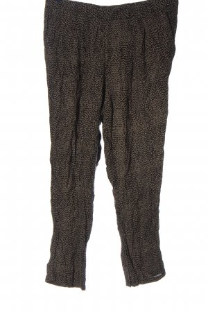 H&M Baggy Pants schwarz-wollweiß Allover-Druck Casual-Look