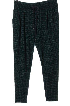 H&M Baggy Pants schwarz-grün abstraktes Muster Elegant