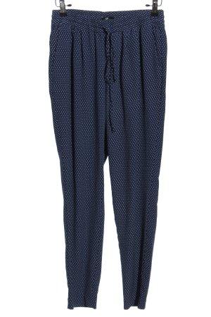 H&M Pantalon «Baggy» bleu-blanc style décontracté