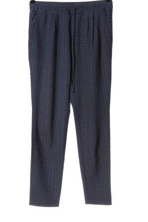 H&M Baggy Pants blau-weiß Allover-Druck Casual-Look