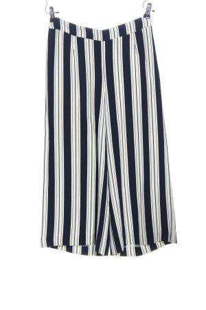 H&M Baggy broek blauw-wit volledige print casual uitstraling