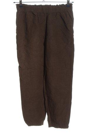 H&M Luźne spodnie brązowy W stylu casual