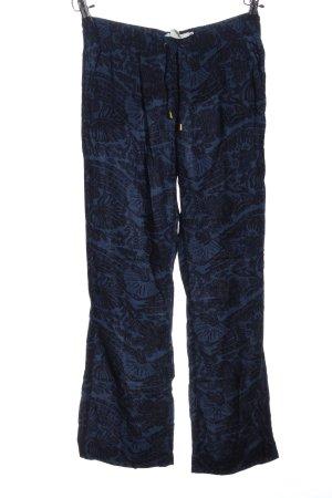 H&M Baggy broek blauw-zwart Patroon-mengeling casual uitstraling