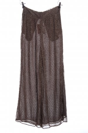 H&M Baggy broek bruin-wolwit volledige print casual uitstraling