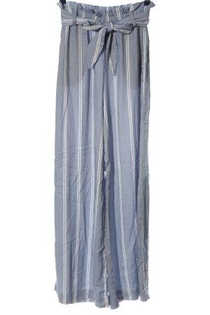 H&M Baggy broek blauw-wit gestreept patroon casual uitstraling