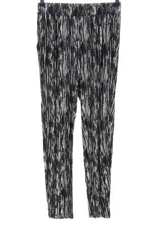 H&M Baggy Pants schwarz-weiß Allover-Druck Casual-Look