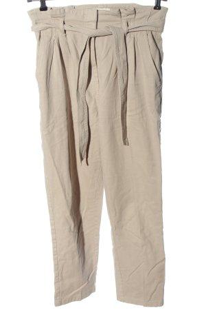 H&M Workowate jeansy w kolorze białej wełny Wzór w paski W stylu casual