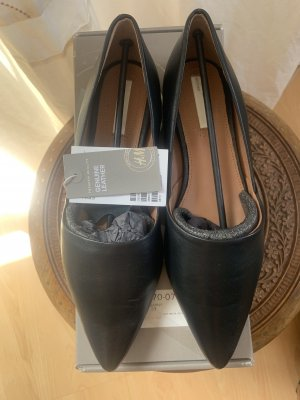H&M Ballerina schwarz, neu!!! Gr.37 Echtes Leder