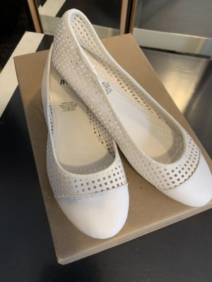 H&M Slingback Ballerinas white